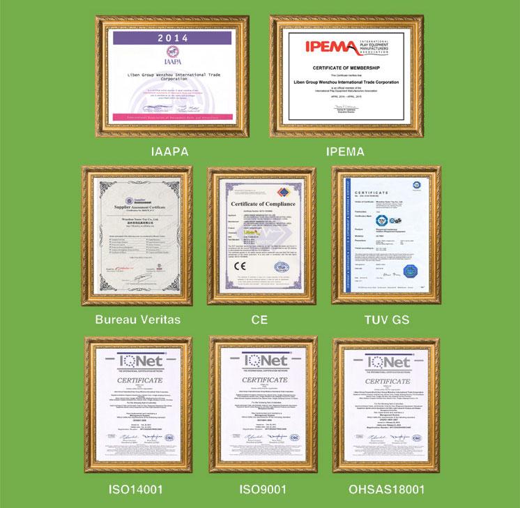 立本集团资质认证证书
